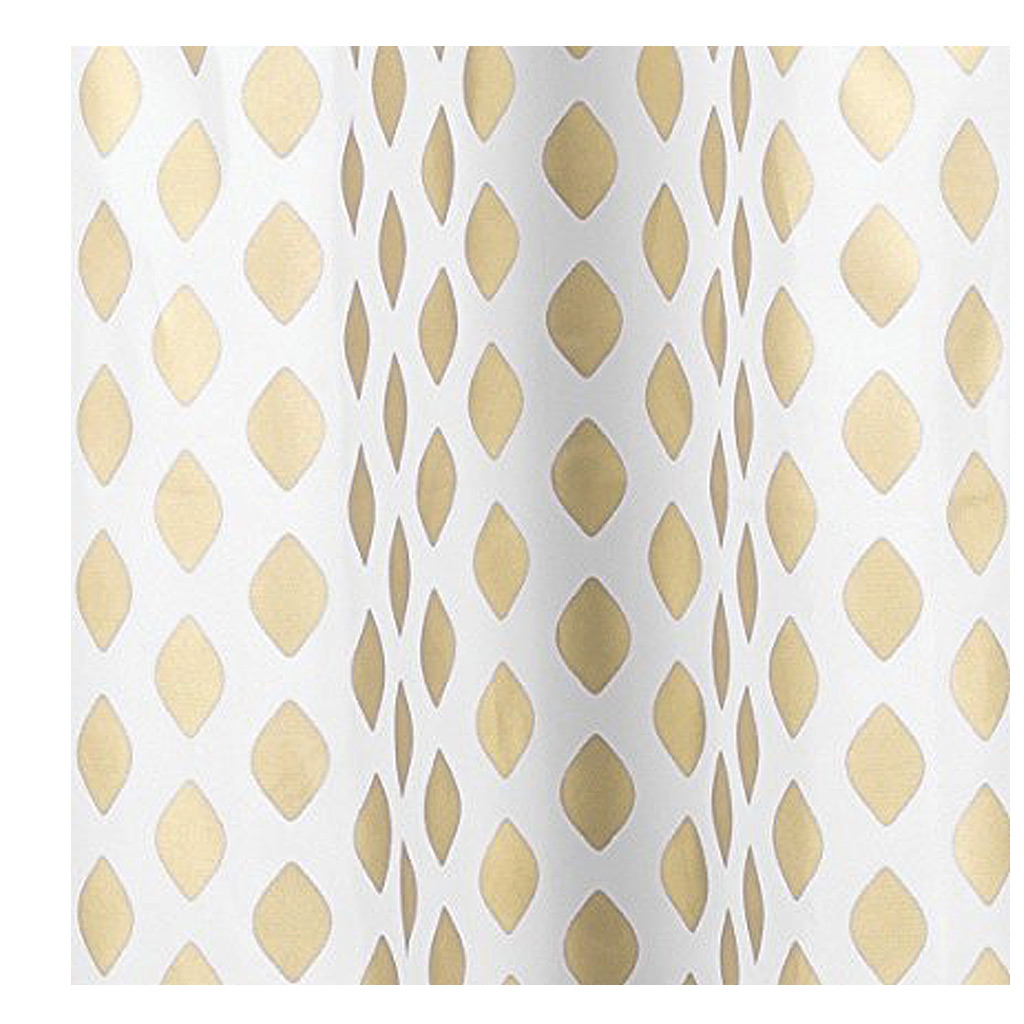 Diamond Shower Curtain, Gold