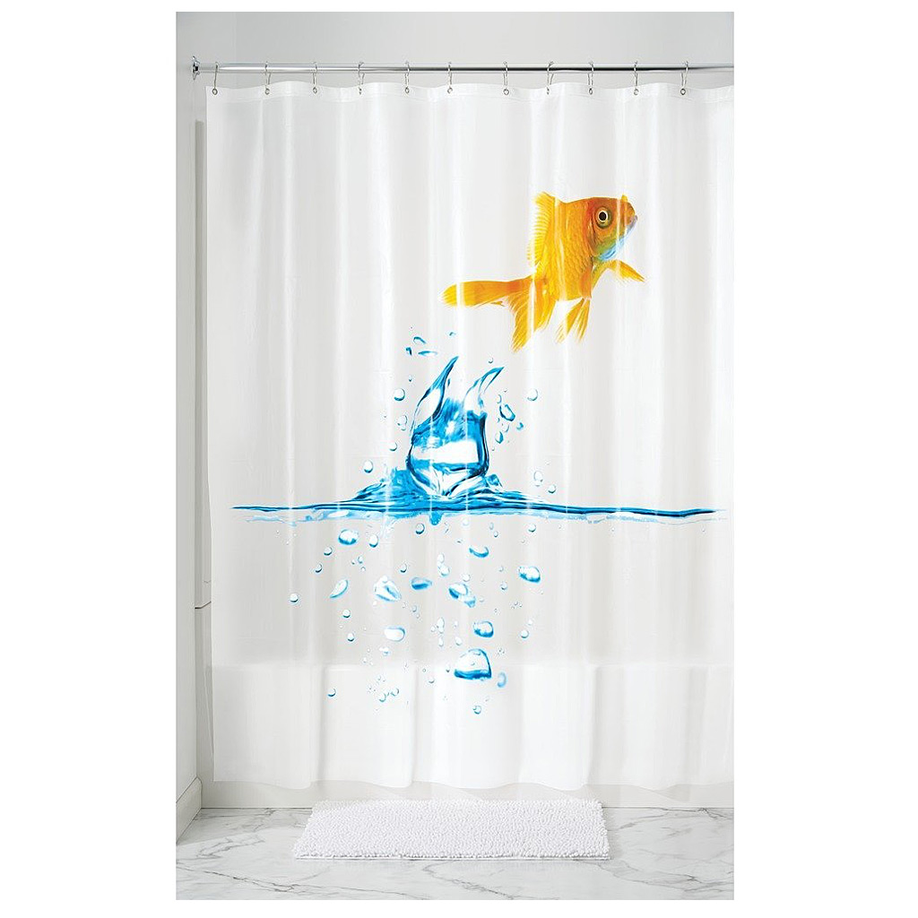 Finn, PEVA Shower Curtain