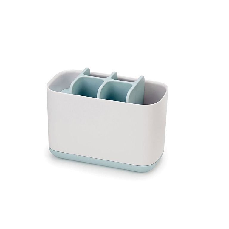 Large Toothbrush Caddy, Blue/Wht