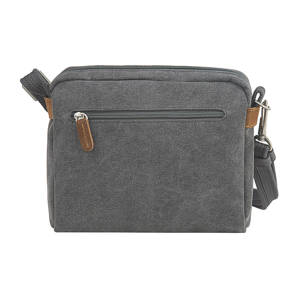 Anti-Theft Heritage Crossbody Bag, Pewter