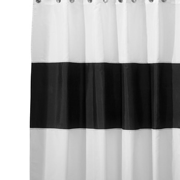 Zeno Shower Curtain, Black/White