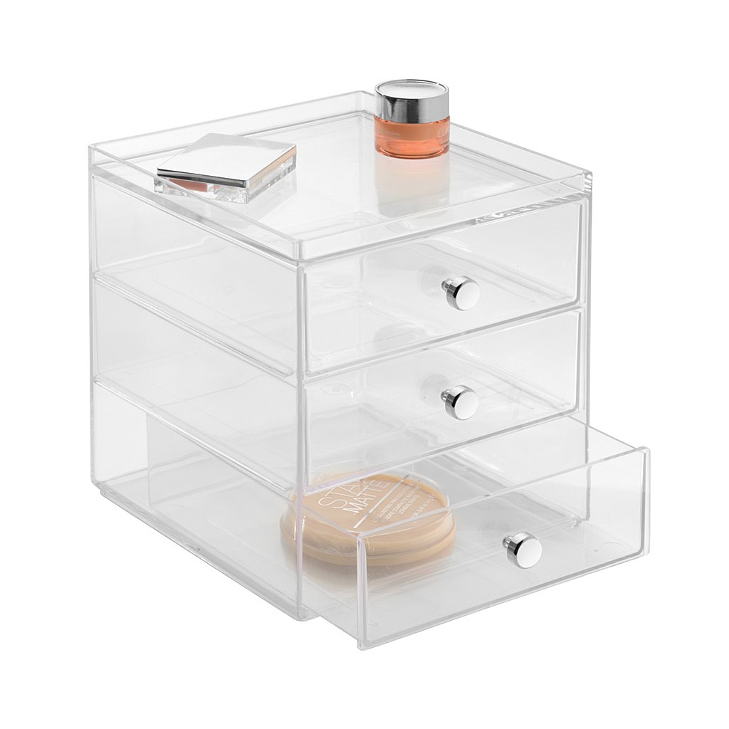 Drawers, 3 Drawer, Clear