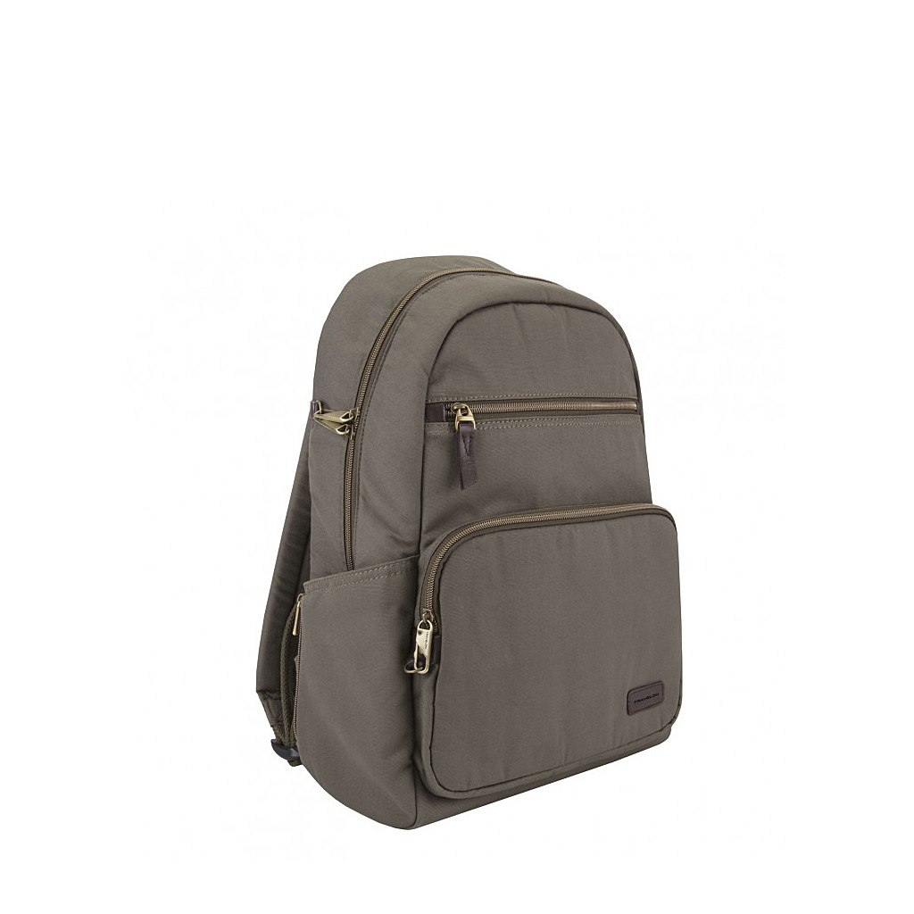 Anti-Theft Courier Slim Backpack, Stone Grey