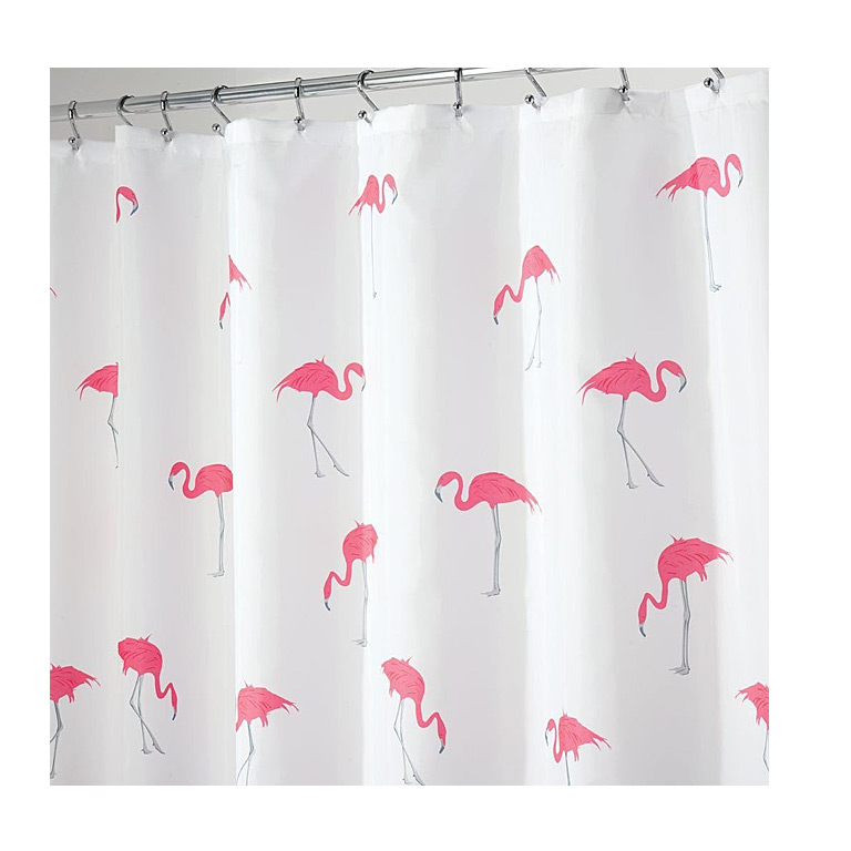 Flamingo Shower Curtain, Pink/Gray