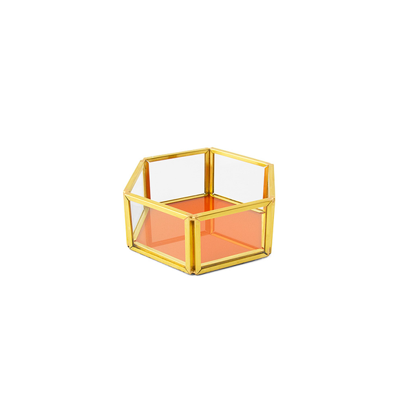 Beehive Tray, Orange/ Gold, Small