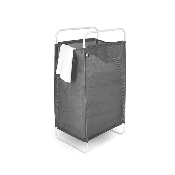 Cinch Laundry Hamper, Grey White
