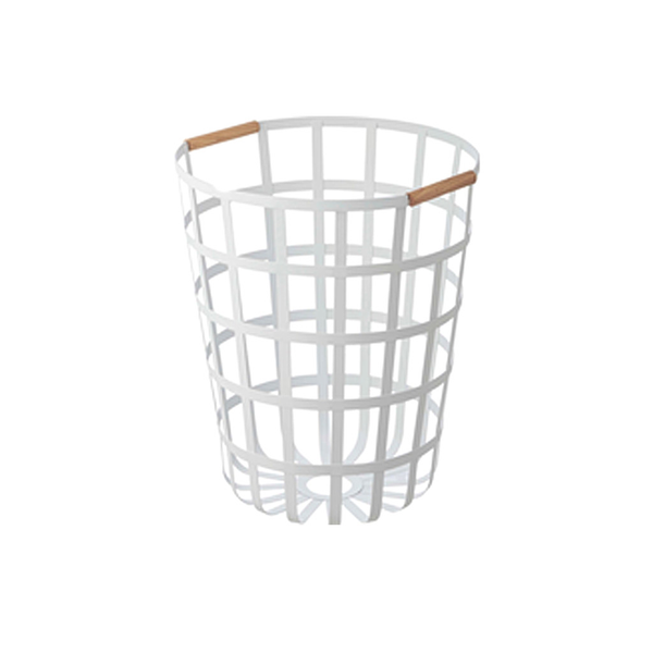 Tosca Laundry Hamper, White,15.7Dx17.7H