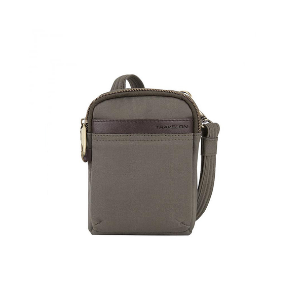 Anti-Theft Courier Mini Crossbody, Stone Grey