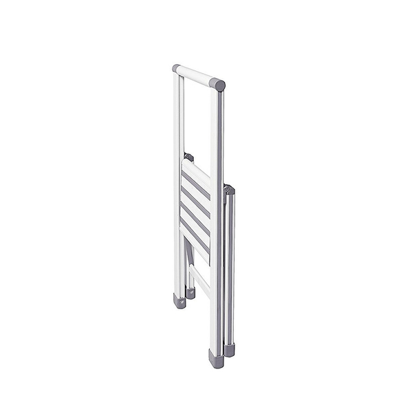 White Aluminium Design Folding Stepladder 1-step