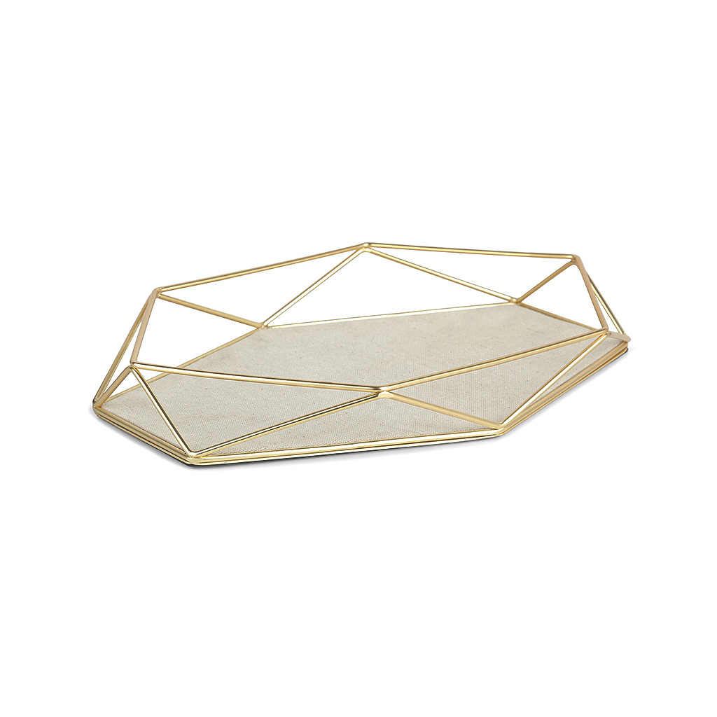 Prisma Jewelry Tray Matt Brass