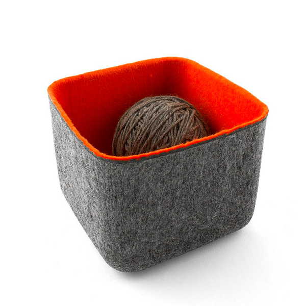 FELT·LIKE·IT!™ Storage Bins, Orange