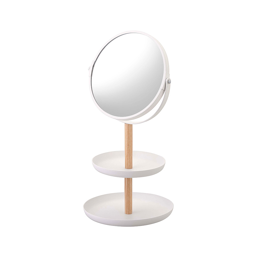 Tosca Accessory Trays/Mirror, White