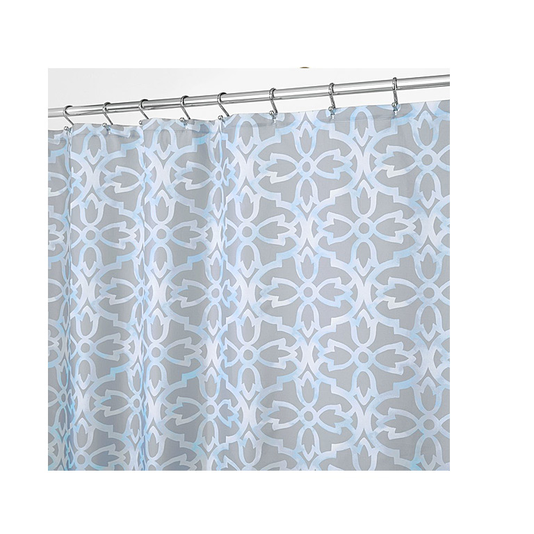 Adele Shower Curtain Gray Blue