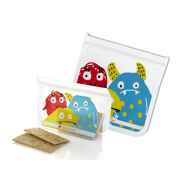 ZipTuck Monster Reusable Lunch Set, Set of 2