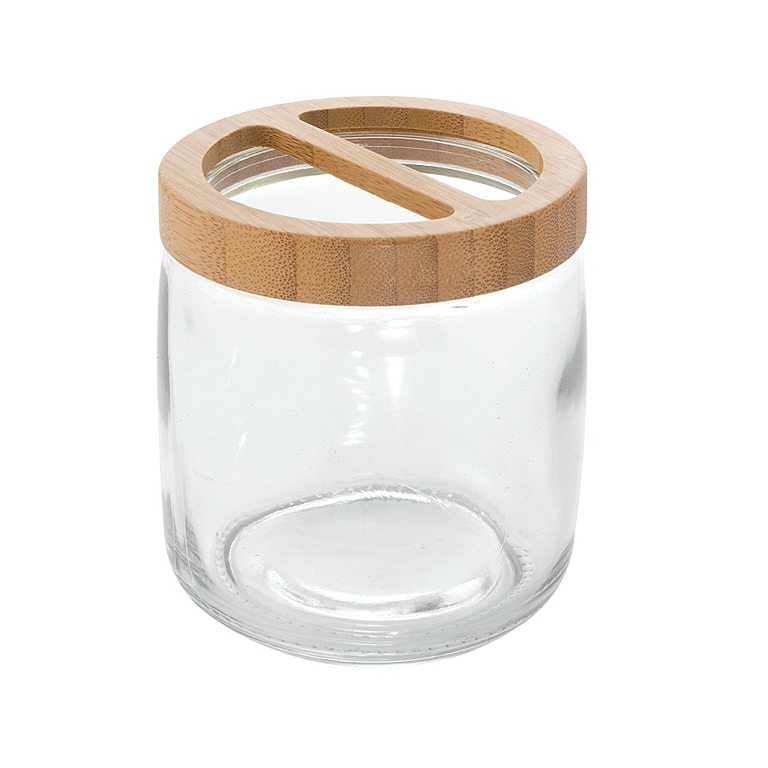 Kane Toothbrush Holder, Clear/Natural