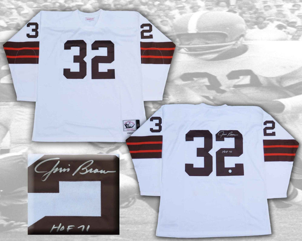 Jim Brown Cleveland Browns Signed Football Jersey