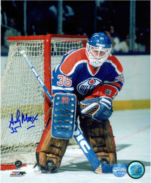 Andy Moog Edmonton Oilers Autographed 16x20 Photo
