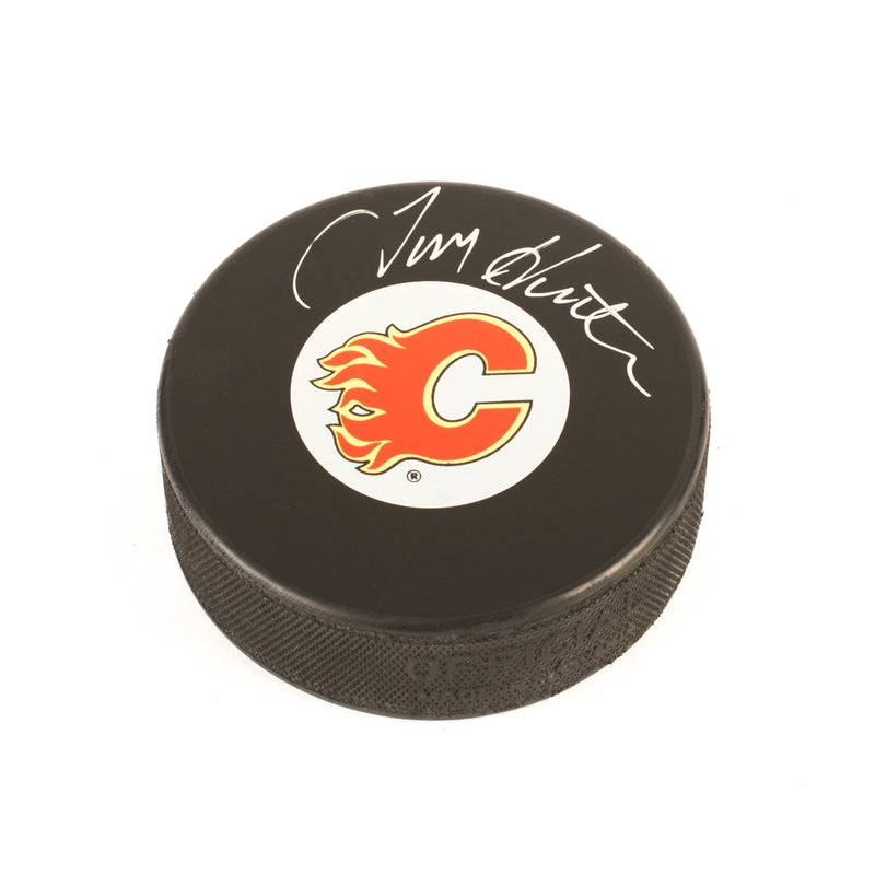 Tim Hunter Calgary Flames Autographed Puck