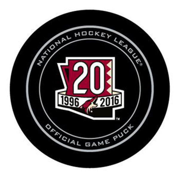 Arizona Coyotes 20th Anniversary 2016-2017 Official NHL Game Puck