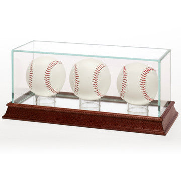 Glass Baseball 3 Ball Display Case