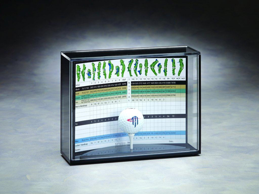 Scorecard & Golf Ball Acrylic Display Case