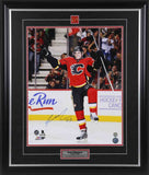 Sean Monahan Calgary Flames Celebration Signed 16x20 Photo
