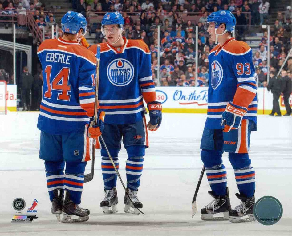Eberle, Nugent-Hopkins & Hall Edmonton Oilers 8x10 Photograph