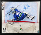 Ryan Miller Vancouver Canucks - Overhead - Signed 20x24 Framed Canvas