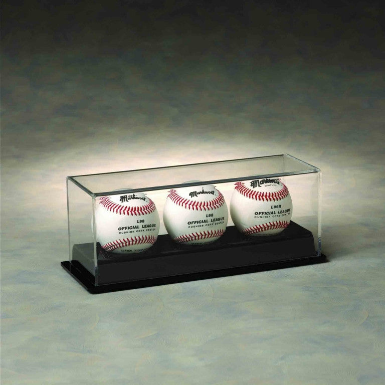 Triple Puck / Baseball Acrylic Display Case
