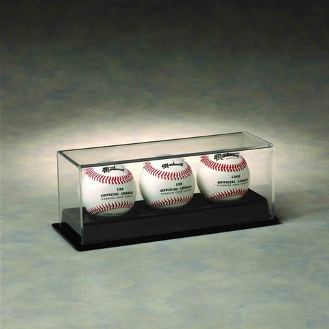 Glass Football Mini Helmet Display Case with Black Base