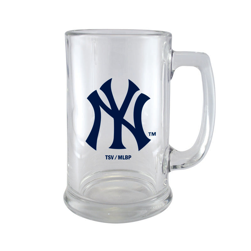 New York Yankees 15oz Glass Sport Mug
