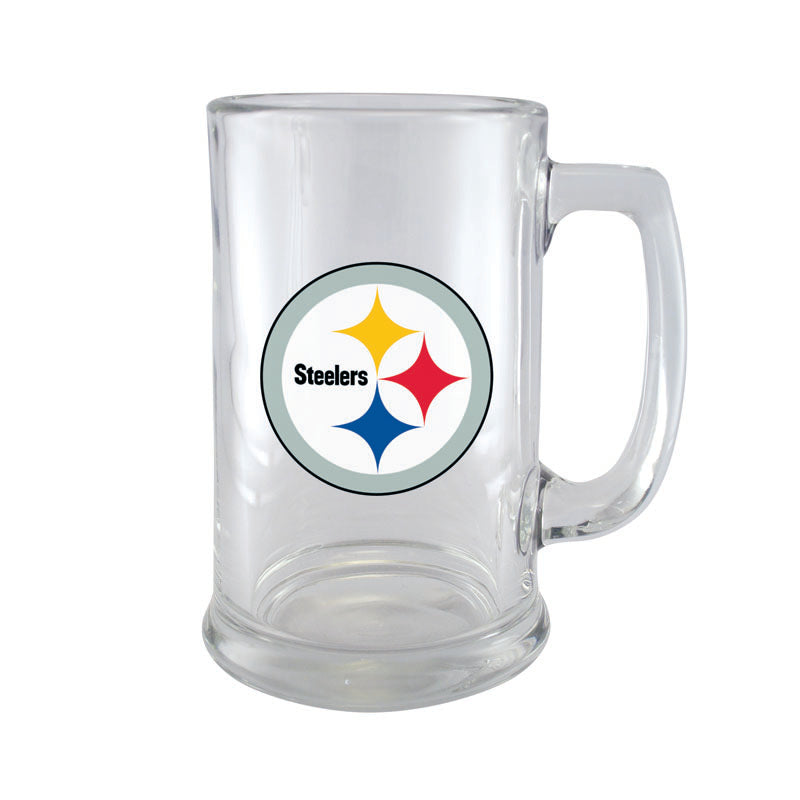 Pittsburgh Steelers 15oz Glass Sport Mug