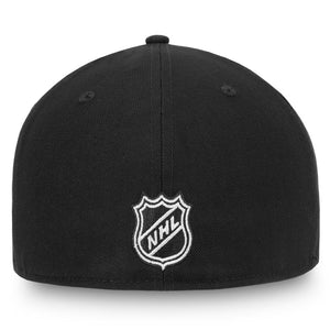 Edmonton Oilers Black/White Fanatics Fitted Cap