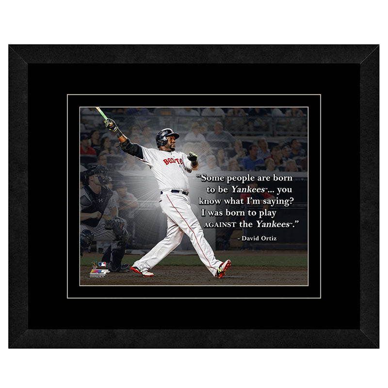 David Ortiz Boston Red Sox Framed 11x14 Pro Quote
