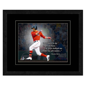Mookie Betts Boston Red Sox Framed 11x14 Pro Quote