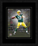 Aaron Rodgers Green Bay Packers Framed 11x14 Pro Quote