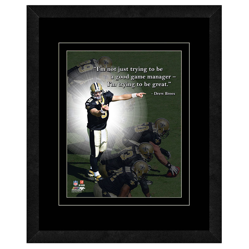 Drew Brees New Orleans Saints Framed 11x14 Pro Quote