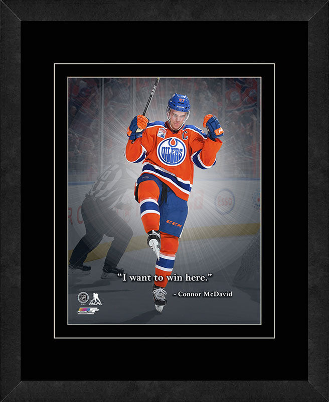 Connor McDavid Edmonton Oilers Framed 11x14 Pro Quote