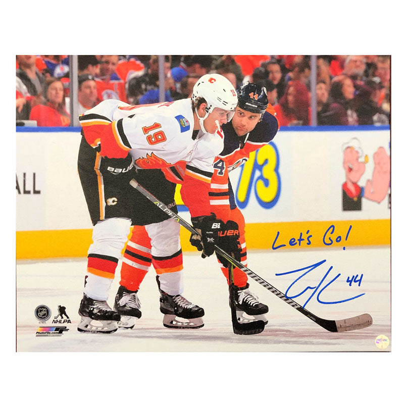 Zack Kassian Edmonton Oilers Autographed 16x20 Stretched Canvas
