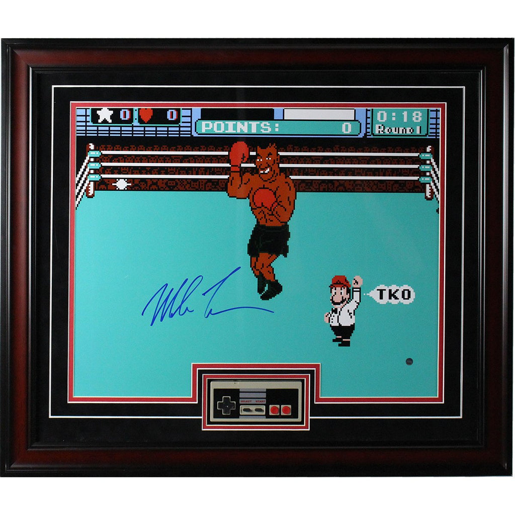"Mike Tyson ""Punch Out"" Autographed 16x20 Framed Collage"