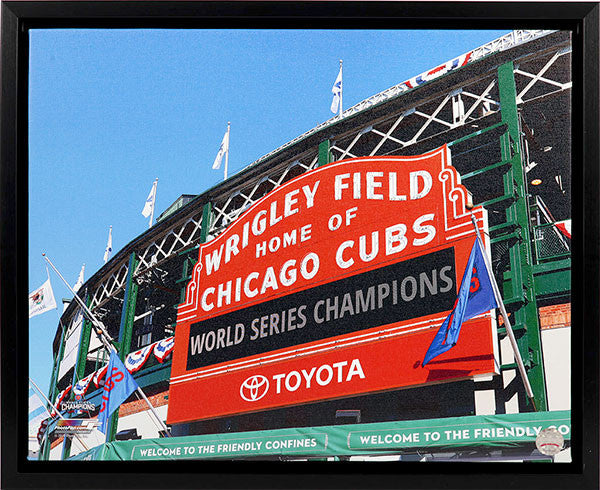 Chicago Cubs Wrigley Field Marquee 16x20 Canvas Frame