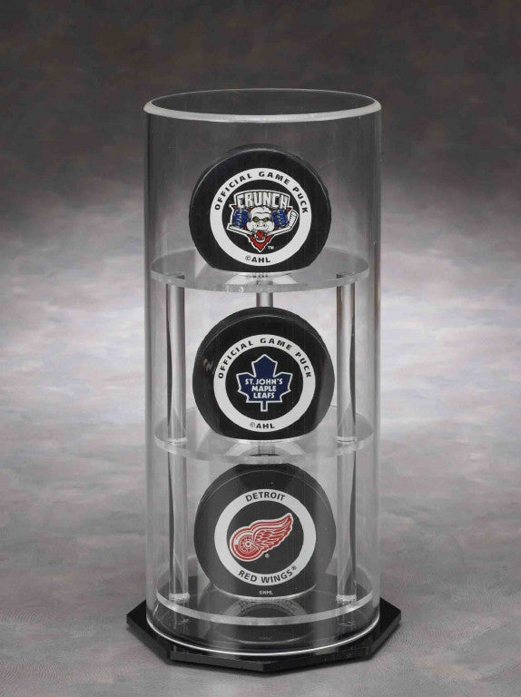 Round Triple Puck / Baseball Acrylic Display Case