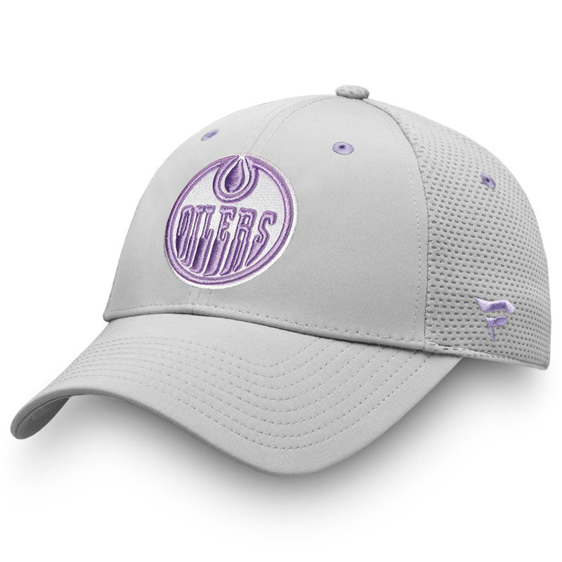 Edmonton Oilers Hockey Fights Cancer Snapback Cap