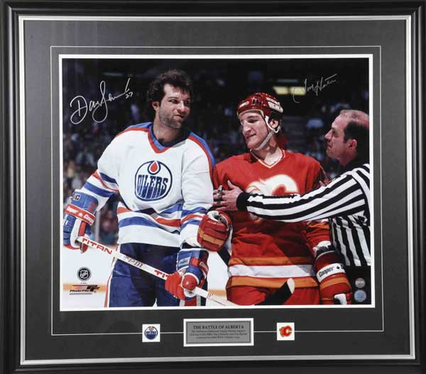 Battle of Alberta Dave Semenko & Tim Hunter Dual Signed Framed 11x14 Photo