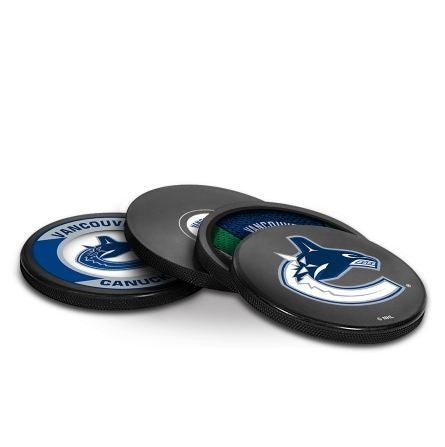 Vancouver Canucks Puck Coaster Set