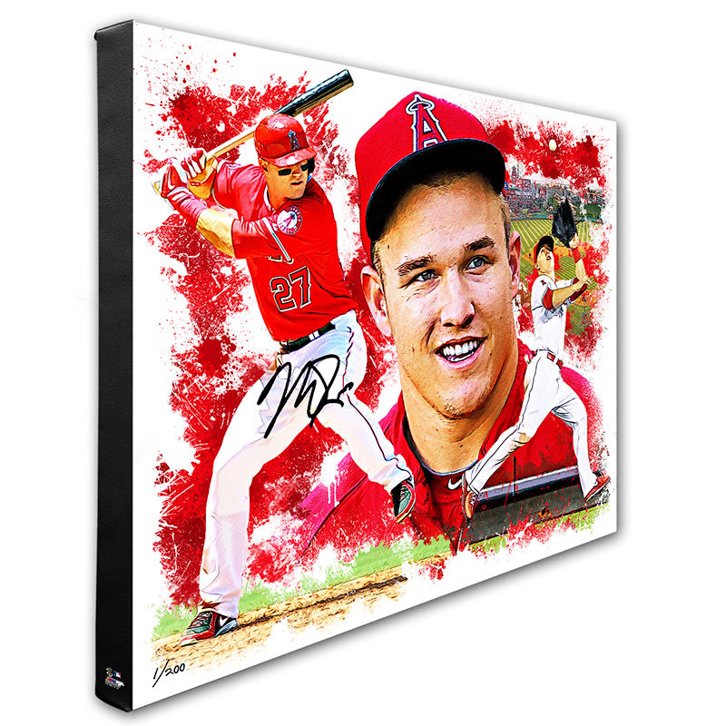 Mike Trout Los Angeles Angels 20x24 Signed Collage Canvas