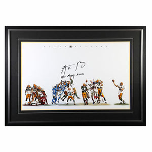 Aaron Rodgers Green Bay Packers Signed, Inscribed & Framed 20x32 Limited Edition Photo
