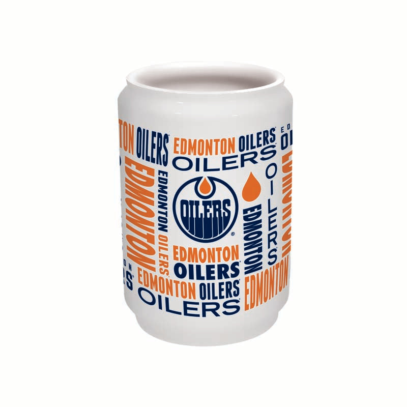 Edmonton Oilers 16oz Ceramic Can Glass