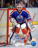 Grant Fuhr Edmonton Oilers - Against The Post - Signed 8x10 Photo