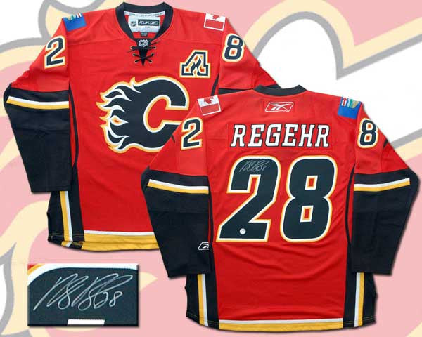 Robyn Regehr - Autographed Red RBK Edge Premier Replica Jersey